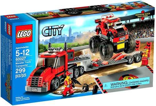 LEGO City Monster Truck Transporter Set #60027