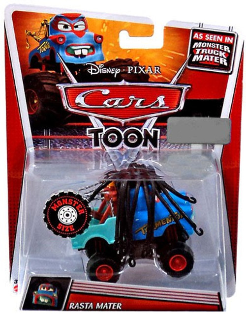 Disney Cars Cars Toon Deluxe Oversized Rasta Mater Exclusive Diecast Car