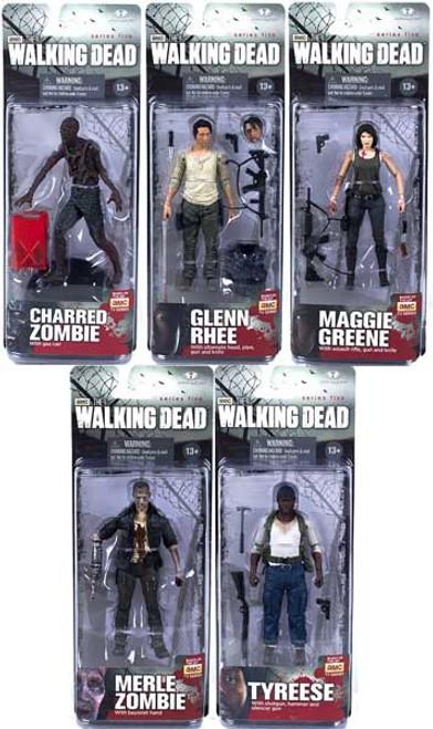 McFarlane Toys AMC TV Walking Dead TV Series 5 Set of 5 Action Figures