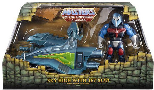 Masters of the Universe Classics Club Eternia Sky High with Jet Sled Exclusive Action Figure