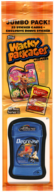 Wacky Packages Series 11 Trading Card Sticker Jumbo Pack
