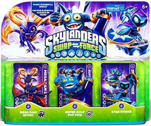 Skylanders Swap Force Mega Ram Spyro, Super Gulp Pop Fizz, Star Strike Exclusive Figure 3-Pack