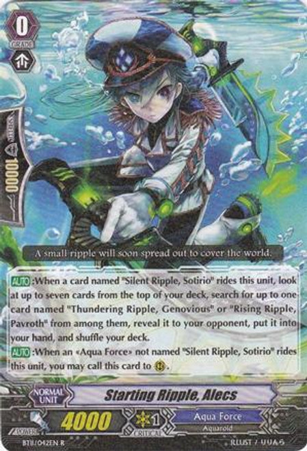 Cardfight Vanguard Seal Dragons Unleashed Rare Starting Ripple, Alecs BT11/042