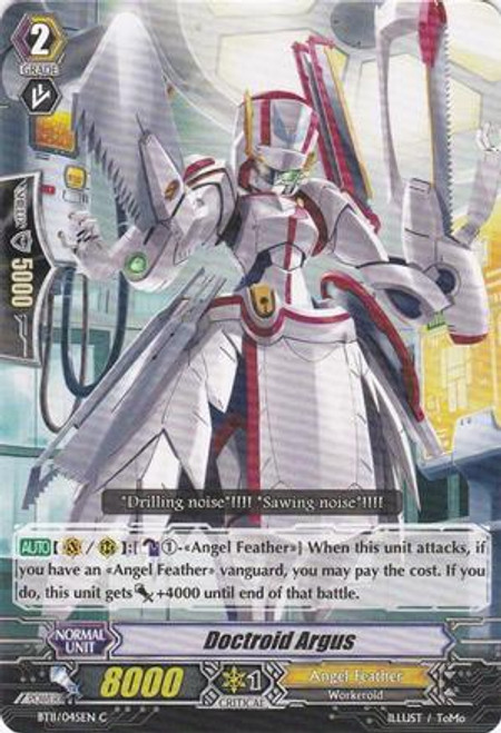 Cardfight Vanguard Seal Dragons Unleashed Common Doctroid Argus BT11/045