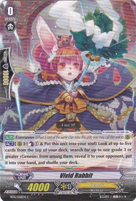 Cardfight Vanguard Seal Dragons Unleashed Common Vivid Rabbit BT11/058