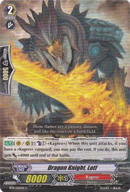 Cardfight Vanguard Seal Dragons Unleashed Common Dragon Knight, Lotf BT11/062