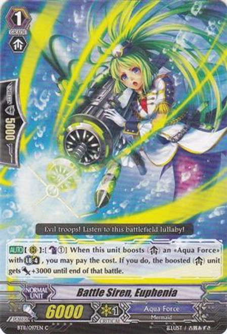 Cardfight Vanguard Seal Dragons Unleashed Common Battle Siren, Euphenia BT11/097