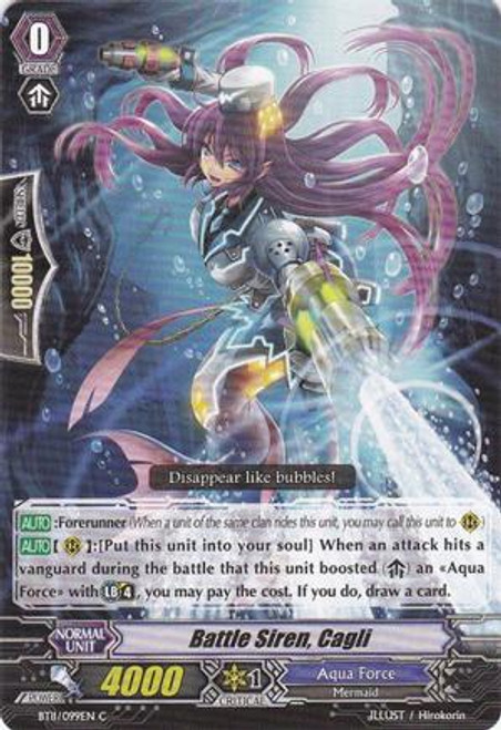 Cardfight Vanguard Seal Dragons Unleashed Common Battle Siren, Cagli BT11/099