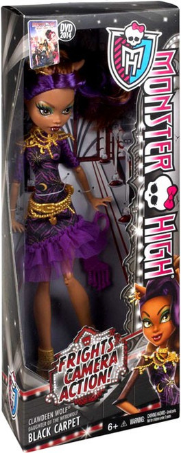 Monster High Frights, Camera, Action Black Carpet Clawdeen Wolf 10.5-Inch Doll