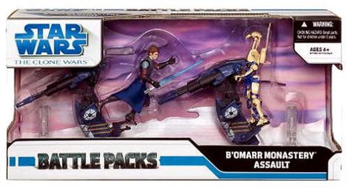 Star Wars The Clone Wars Battle Packs 2009 Bo'Mar Monastery Assault Exclusive Action Figure Set