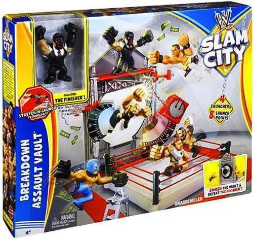 WWE Wrestling Playsets Slam City Breakdown Assault Vault Ring Action Figure Playset