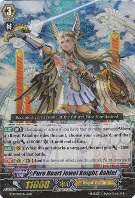 Cardfight Vanguard Triumphant Return of the King of Knights RRR Rare Pure Heart Jewel Knight, Ashlei BT10/001