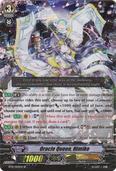 Cardfight Vanguard Triumphant Return of the King of Knights RRR Rare Oracle Queen, Himiko BT10/004