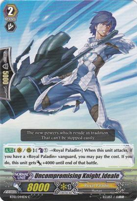 Cardfight Vanguard Triumphant Return of the King of Knights Common Uncompromising Knight, Ideale BT10/044