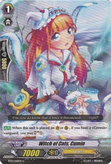 Cardfight Vanguard Triumphant Return of the King of Knights Common Witch of Cats, Cumin BT10/068