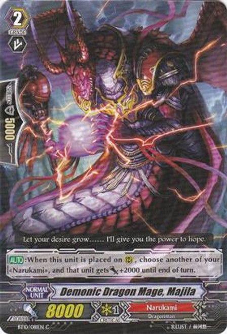 Cardfight Vanguard Triumphant Return of the King of Knights Common Demonic Dragon Mage, Majila BT10/081