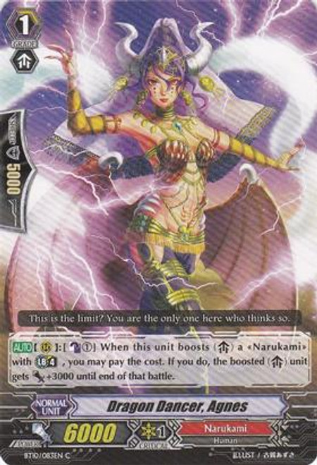 Cardfight Vanguard Triumphant Return of the King of Knights Common Dragon Dancer, Agnes BT10/083