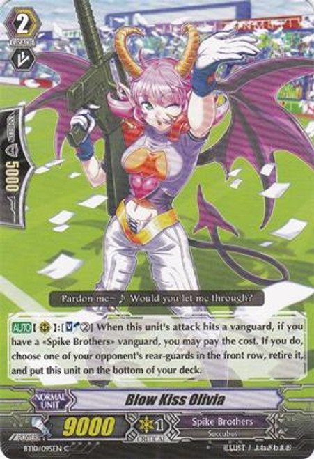 Cardfight Vanguard Triumphant Return of the King of Knights Common Blow Kiss Olivia BT10/095
