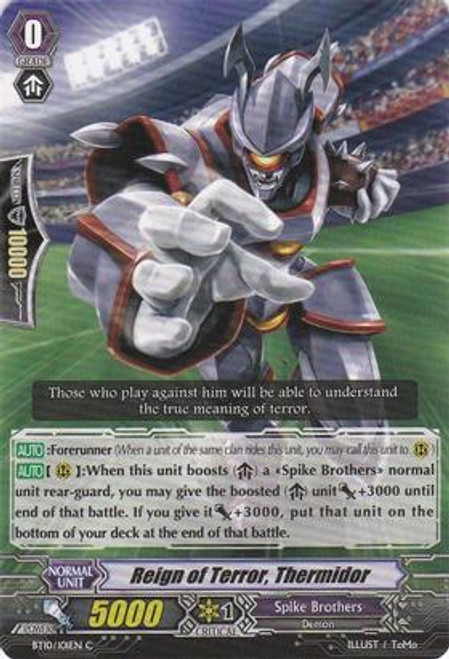 Cardfight Vanguard Triumphant Return of the King of Knights Common Reign of Terror, Thermidor BT10/101