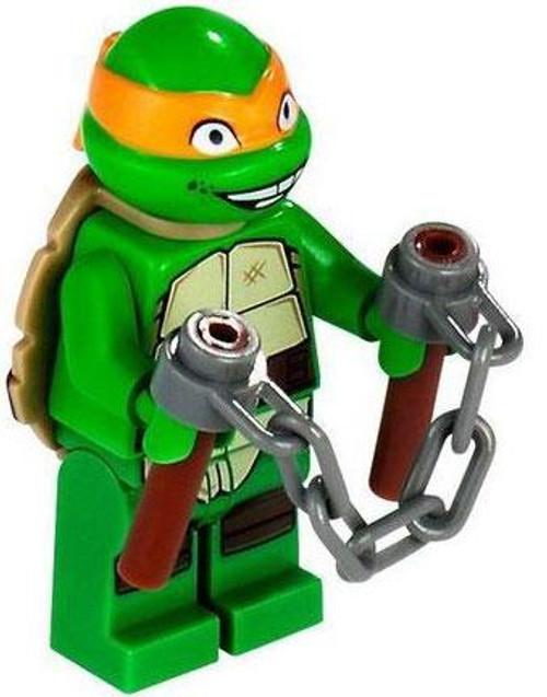 LEGO Teenage Mutant Ninja Turtles Loose Michelangelo Minifigure [Smiling Loose]