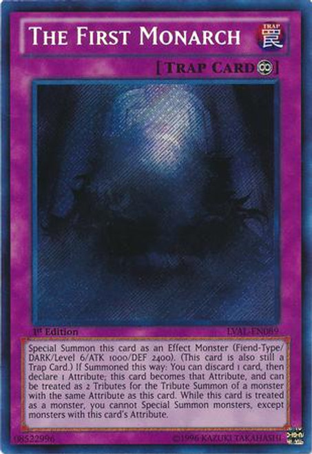 YuGiOh Zexal Legacy of the Valiant Secret Rare The First Monarch LVAL-EN089