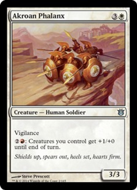 MtG Born of the Gods Uncommon Akroan Phalanx #2