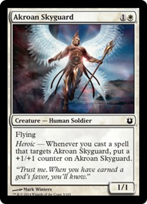 MtG Born of the Gods Common Akroan Skyguard #3