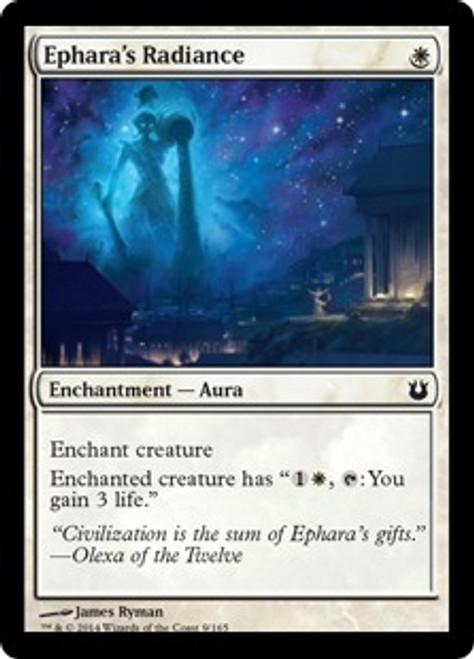 MtG Born of the Gods Common Ephara's Radiance #9