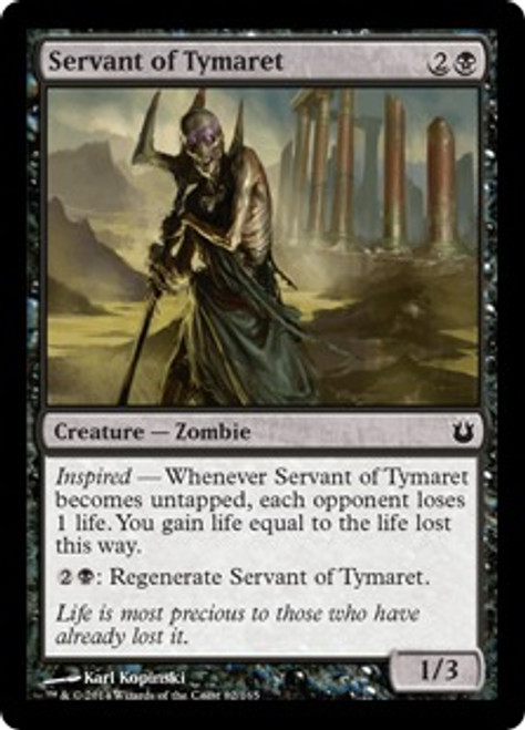 MtG Born of the Gods Common Servant of Tymaret #82