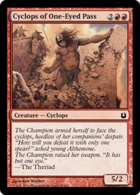 MtG Born of the Gods Common Cyclops of One-Eyed Pass #90