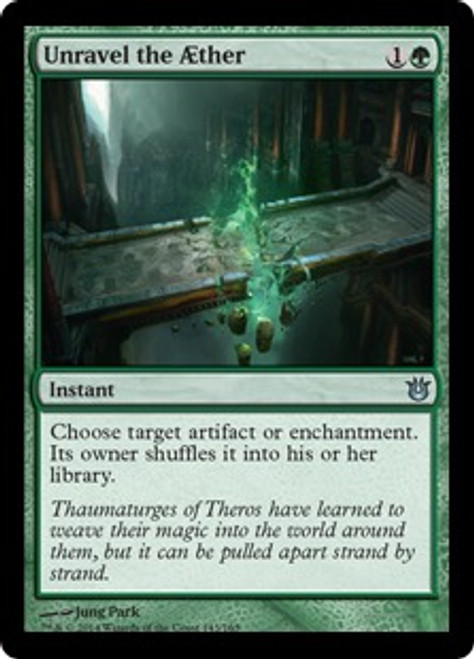 MtG Born of the Gods Uncommon Unravel the ther #143