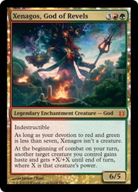 MtG Born of the Gods Mythic Rare Xenagos, God of Revels #156