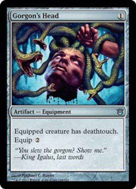 MtG Born of the Gods Uncommon Gorgon's Head #158