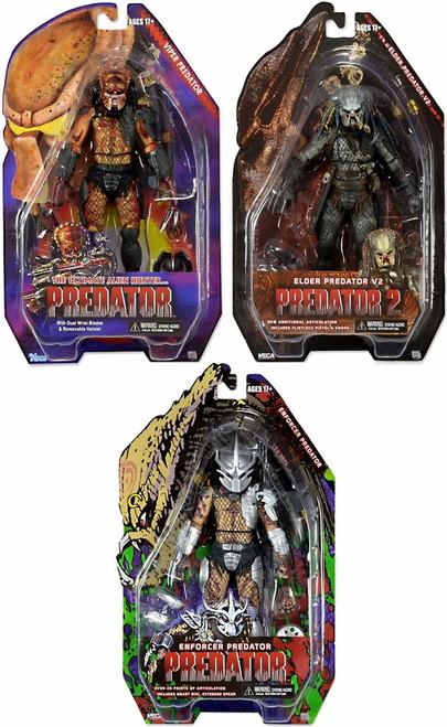 NECA Predator Series 12 Enforcer, Elder V2 & Viper Set of 3 Action Figures