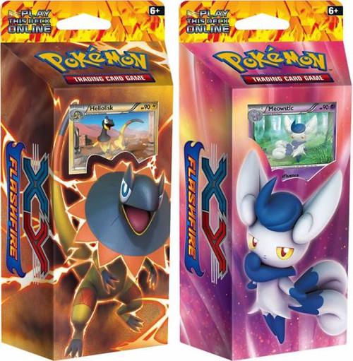 Pokemon XY Flashfire Brilliant Thunder & Mystic Typhoon Set of Both Theme Decks [Sealed]