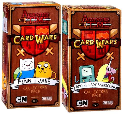 Adventure Time Card Wars Finn vs. Jake & BMO vs. Lady Rainicorn Collector's Packs