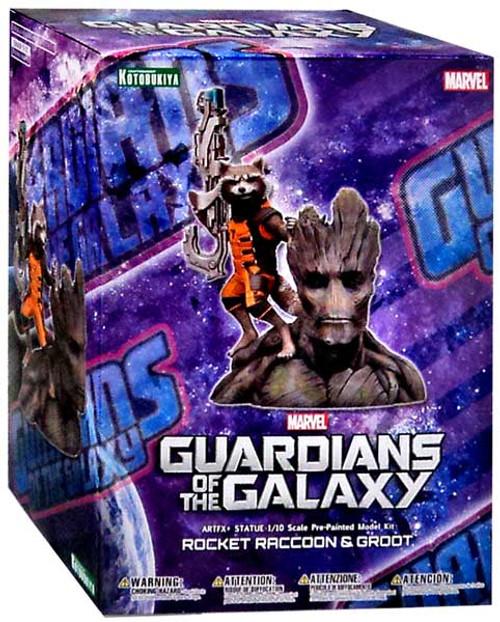 Marvel Guardians of the Galaxy Rocket Raccoon & Groot Statue