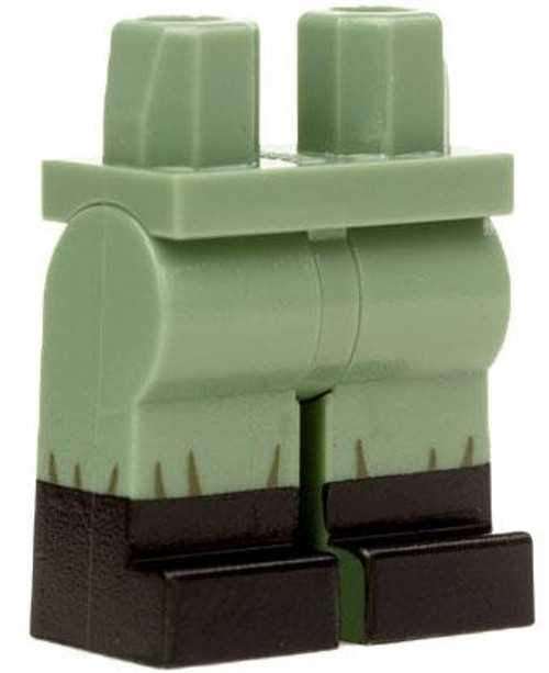 Citizen Brick Custom Painted Minifgure Parts Sand Green with Black Boots Loose Legs [Loose]