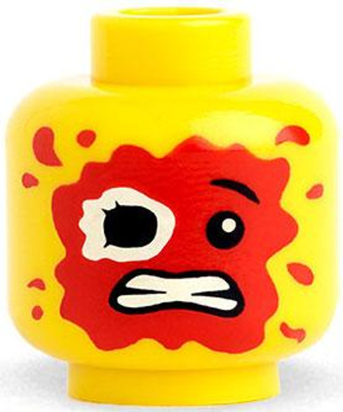 Citizen Brick Custom Printed Minifigure Parts Yellow Zombie Food Loose Head [Loose]