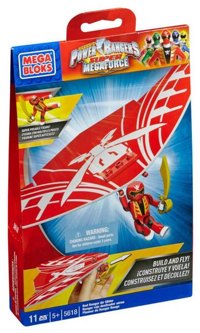 Mega Bloks Power Rangers Super Megaforce Red Ranger Air Glider Set #5618