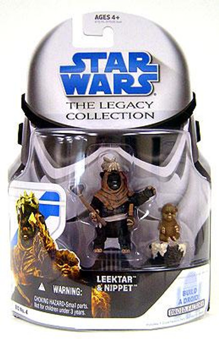 Star Wars Return of the Jedi Legacy Collection 2008 Droid Factory Leektar & Nippett Ewoks Action Figure 2-Pack BD04