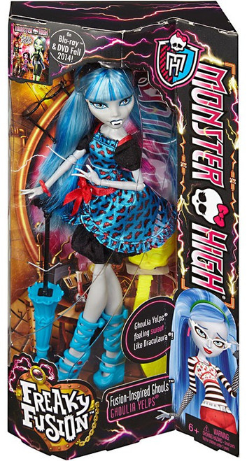 Monster High Freaky Fusion Ghouls Ghoulia Yelps 10.5-Inch Doll