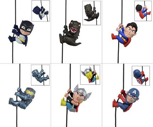 NECA Scalers Series 3 Thor, Captain America, Gipsy Danger, Superman, Batman & Godzilla Mini Figures