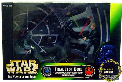 Star Wars Return of the Jedi Power of the Force POTF2 Deluxe Final Jedi Duel Action Figure Set