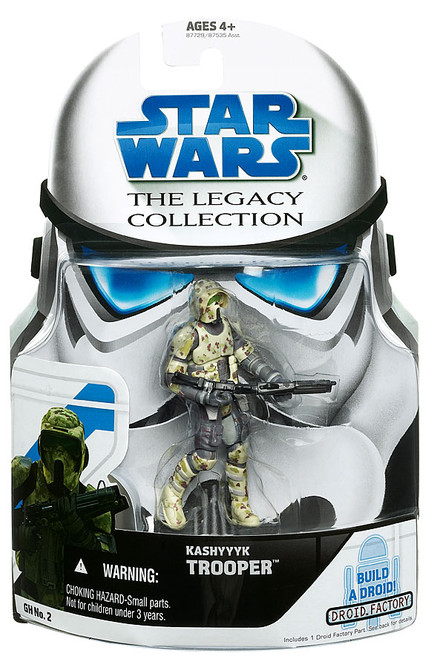 Star Wars Revenge of the Sith Legacy Collection 2008 Droid Factory Kashyyyk Scout Trooper Action Figure GH02
