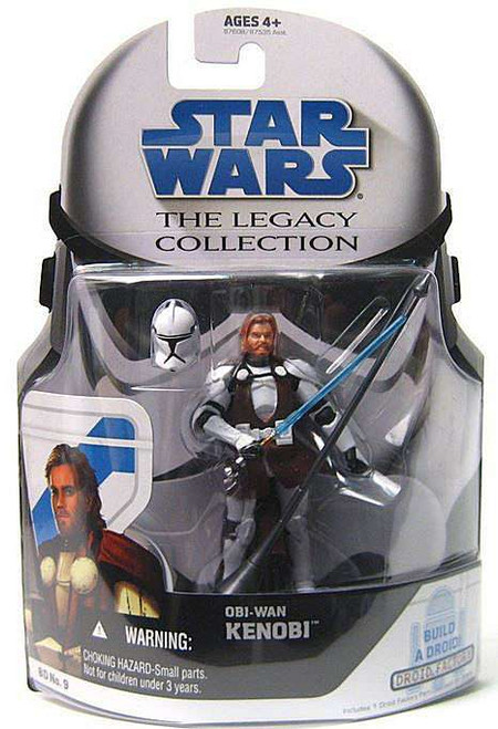 Star Wars The Clone Wars Legacy Collection 2008 Droid Factory Obi-Wan Kenobi Action Figure BD09 [General's Armor]