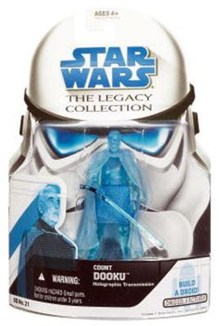 Star Wars Attack of the Clones Legacy Collection 2008 Droid Factory Count Dooku Action Figure BD21 [Hologram]
