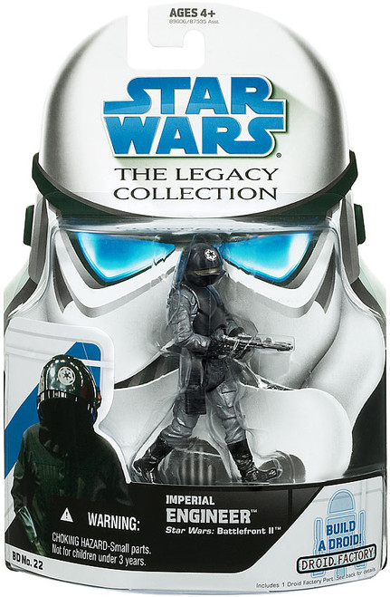 Star Wars A New Hope Legacy Collection 2008 Droid Factory Imperial Engineer Action Figure BD22