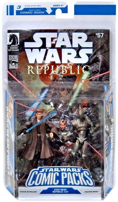 Star Wars Expanded Universe Comic Packs 2009 Anakin Skywalker & Assasin Droid Action Figure 2-Pack #57
