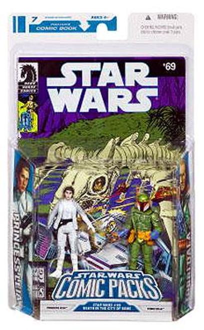 Star Wars Expanded Universe Comic Packs 2009 Princess Leia & Tobbi Dala Action Figure 2-Pack #69